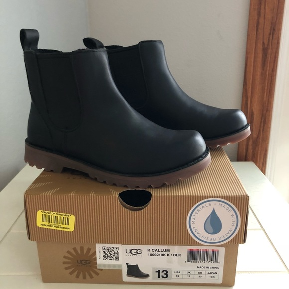 86161af786d UGG Kids Callum Boot Size 13 Black (Chelsea style) NWT
